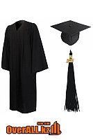 Мантия выпускника, черная, фото 1