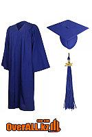 Мантия выпускника, синяя, фото 1