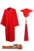 Мантия выпускника, красная, фото 1