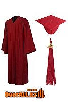Мантия выпускника, бордовая, фото 1