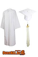 Мантия выпускника, белая, фото 1