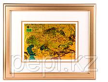 """Настенное панно """"Золотая карта Казахстана"""", 515*425мм"""