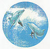 Панно Дельфины