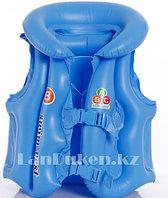 Надувной спасательный жилет для плавания SWIT VEST голубой (Step B)
