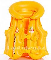Надувной спасательный жилет для плавания SWIT VEST желтый (Step B)