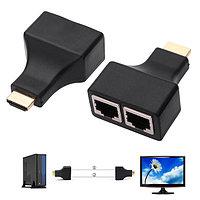 HDMI удлинитель до 30 метров с помощью UTP - витая пара CAT-5/6 EXTENDER, фото 1