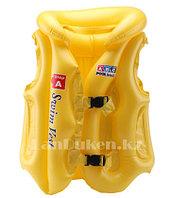 Надувной спасательный жилет для плавания SWIT VEST желтый (Step А)