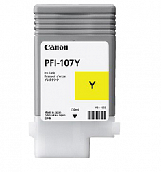 Canon 6708B001 Картридж PFI-107 Yellow 130 ml)