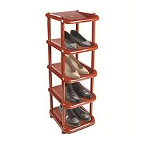 Этажерка для обуви малая 5 полок коричневая (08000)