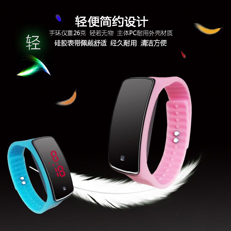 Led часы, электронные, силиконовые часы, часы-браслет, наручные, спорт