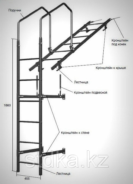 Кронштейн к крыше для лестницы