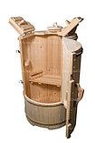 Кедровая бочка круглая «Классическая» со скосом, фото 4