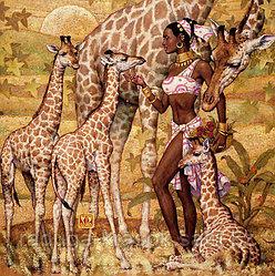 """Картины стразами """"Африка-2"""" 40*50"""