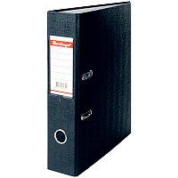 Папка-регистратор 70мм, бумвинил, с карманом на корешке, черная