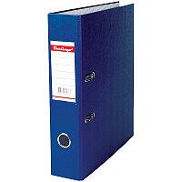 Папка-регистратор 70мм, бумвинил, с карманом на корешке, синяя
