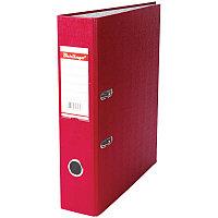 Папка-регистратор 70мм, бумвинил, с карманом на корешке, бордовая