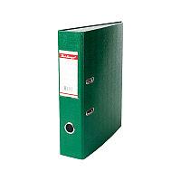 Папка-регистратор 70мм, бумвинил, с карманом на корешке, зеленая