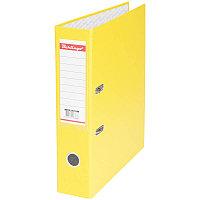 Папка-регистратор 70мм, бумвинил, с карманом на корешке, желтая