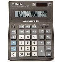 Калькулятор настольный Correct D 14 разрядов, двойное питание, 155*205*28 мм, черный