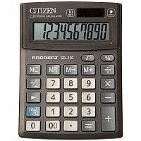 Калькулятор настольный Correct SD 10 разрядов, двойное питание, 103*138*24 мм, черный