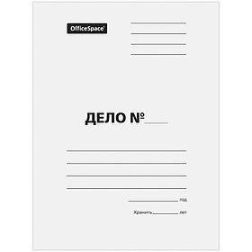 """Скоросшиватель """"Дело"""", картон мелованный, 440 г/м2, белый, пробитый"""