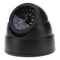Муляж купольной камеры видеонаблюдения мигающим светодиодом и ИК подсветкой