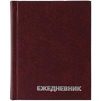 Ежедневник недатированный А6 160л., БВ бордовый, фото 1