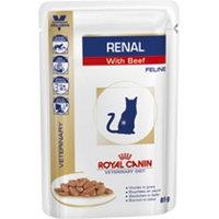 Влажный корм для кошек поддерживающий функцию почек Royal Canin Renal Feline с говядиной (в соусе)