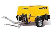 Передвижной на шасси, строительный, винтовой, бензиновый компрессор Kaeser M-17, Германия
