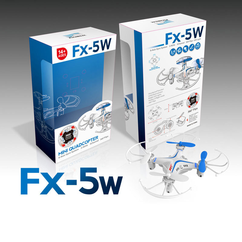 Мини квадрокоптер Fx-5W