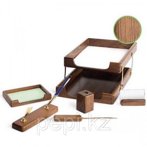 Набор настольный Forpus 7 предметов, коричневый