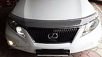 Мухобойка (дефлектор капота) Lexus RX 2009-2014 (Carbon)