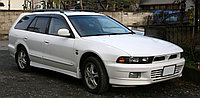 Мухобойка (дефлектор капота) Mitsubishi Galant/ Legnum 1996-1998 (carbon)