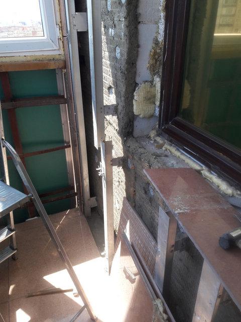 Ремонтные работы на балконе  ЖК Москва 5