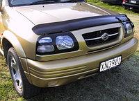 Мухобойка (дефлектор капота) Suzuki Grand Vitara 1998-2005 (Carbon)