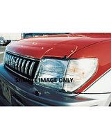 Мухобойка (дефлектор капота) Toyota Land Cruiser 100 1998-2007 (Transparent)