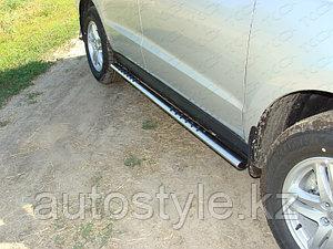 Пороги овальные  Hyundai Santa Fe 2011-2012