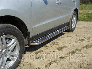 Пороги с площадкой  Hyundai Santa Fe 2011-2012