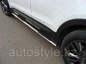 Пороги овальные  Hyundai Santa Fe 2012-