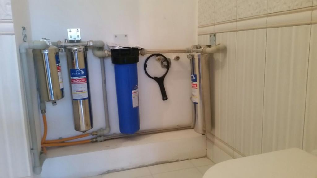 Установки систем очистки воды любой производительности для квартир и коттеджей