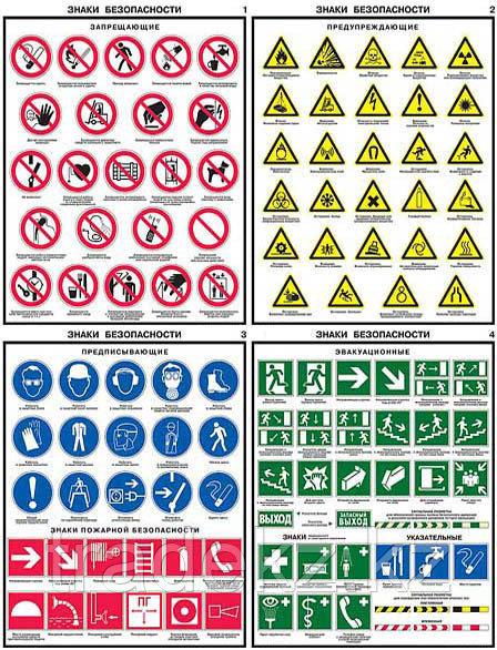 Знаки по технике безопасности