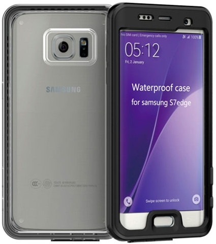 Водонепроницаемый чехол для Samsung Galaxy S7 edge G935F (черный)