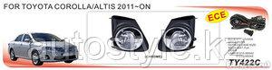 Противотуманные фары Toyota COROLLA 2010-13 DLAA TY422C wire&switch