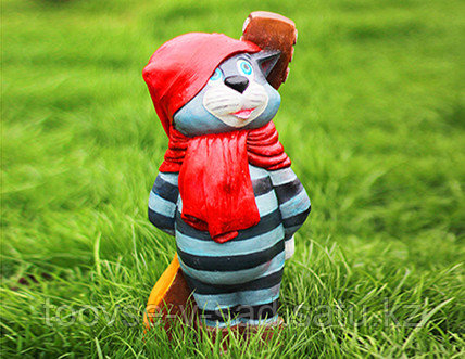 Садовая фигурка из гипса Кот Матроскин 47х18х17см - фото 2