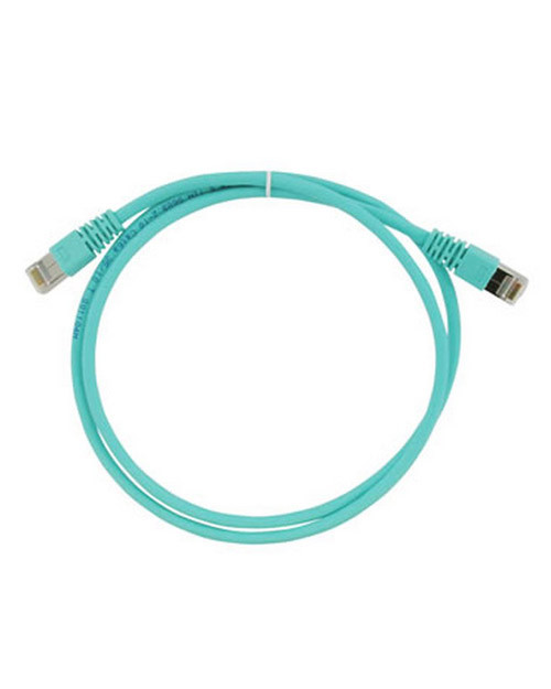 3M FQ100007381 Патч-корд кат. 6А, экранированный, S/FTP, RJ45-RJ45, бирюзовый, LSZH, 2 м