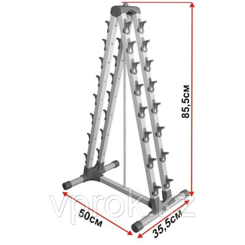 Пирамида для гантель на 8 пар
