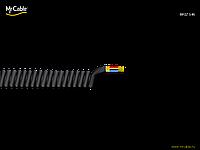 < = MrCable = > Briz 146-5 кабель спиральный (витой) для удочки