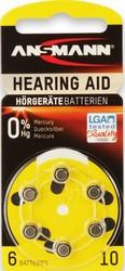 Батарейка для слуховых аппаратов ANSMANN 10  1,4v  PR70