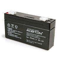 Аккумулятор ROBITON VRLA6-1,3  6V 1,3Ah для кассовых аппаратов