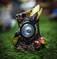 """Декоративный садовый светильник """"Пень с грибами"""""""